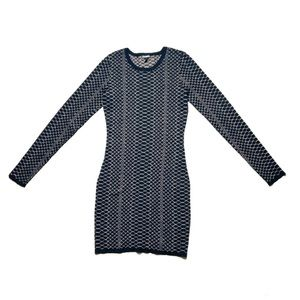 Express Bodycon Long Sleeve Dress Sparkly Small